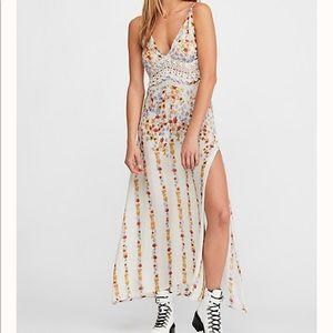 Claire Printed Maxi Slip Dress